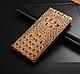 """Huawei P6 оригинальный кожаный чехол книжка из натуральной кожи магнитный противоударный """"3D CROCO S"""", фото 5"""