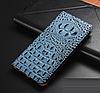 """LG V35 ThinQ оригинальный кожаный чехол книжка из натуральной кожи магнитный противоударный """"3D CROCO S"""", фото 7"""