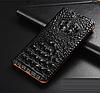 """LG V35 ThinQ оригинальный кожаный чехол книжка из натуральной кожи магнитный противоударный """"3D CROCO S"""", фото 8"""