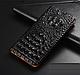 """Huawei P6 оригинальный кожаный чехол книжка из натуральной кожи магнитный противоударный """"3D CROCO S"""", фото 7"""