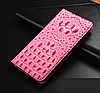 """LG V20 оригинальный кожаный чехол книжка из натуральной кожи магнитный противоударный """"3D CROCO S"""", фото 9"""
