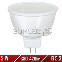 Светодиодная лампа 5Вт, 220 В, G 5.3, 380-420 Лм, Mr16 , фото 1