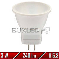 Светодиодная лампа 3Вт, 220 В, G 5.3, 240 Лм, Mr11