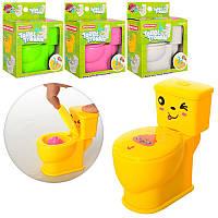 """Детская игрушка прикол """"Унитаз"""" брызгает водой R1710A, 10см"""