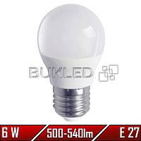 Светодиодная лампа 6Вт, 220 В, E27, 500-540 Лм, G45