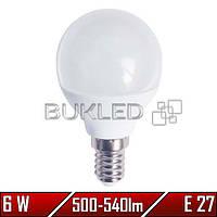 Светодиодная лампа 6Вт, 220 В, E14, 500-540 Лм, P45
