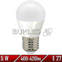 Светодиодная лампа 5Вт, 220 В, E27, 400-420 Лм, G45