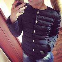 Короткая куртка Черепки с декоративной застежкой