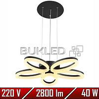 Люстра Led 40 W 4000K 2800 Lm ELEGANCE-40 (Черный)