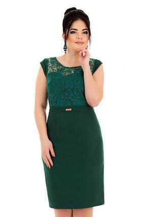 Е8003 Платье с коротким рукавом и кружевом 50-54, фото 2