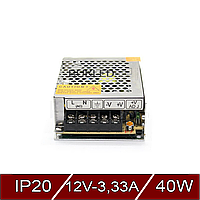 Блок питания импульсный Негерметичный 40W 12V (IP20, 3,33A)