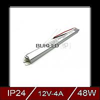 Негерметичные блоки питания 12В - постоянное напряжение 4A SLIM AC180-240V
