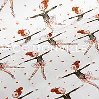 Хлопковая ткань Балеринки, фото 1