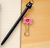 Ручка гелевая черная Дьявол , фото 2