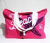 """Розовая женская сумка из ткани """"Звезда"""" WUU-200449"""