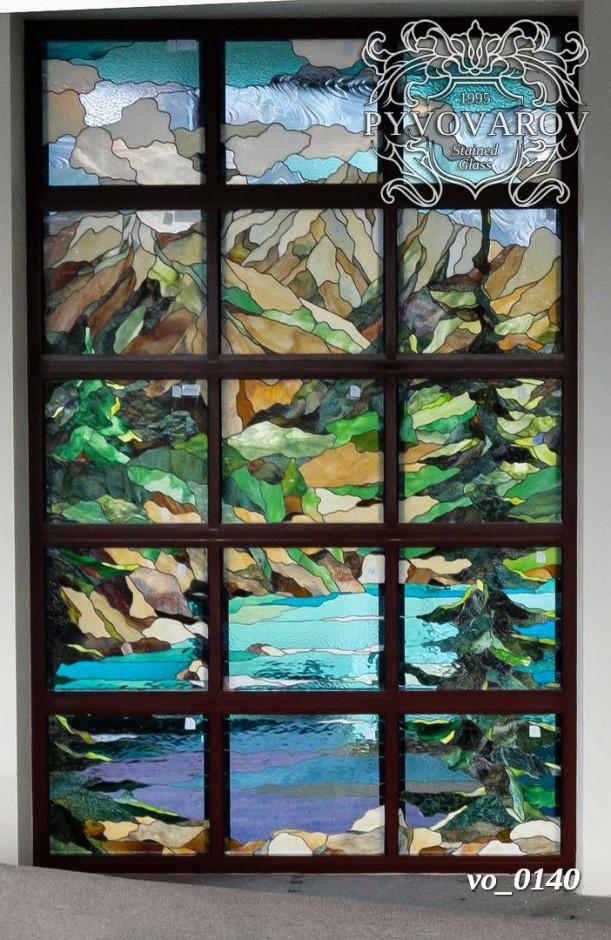 Витражи на окна пейзаж
