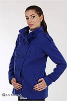 Полупальто для беременных кашемировое синий электрик