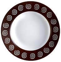Sirocco Brown Тарелка глубокая круглая с бортом d22,5 см стеклокерамика Luminarc