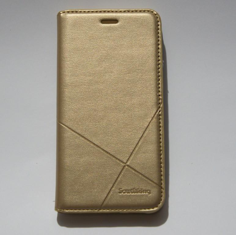 Чехол-книжка для смартфона Huawei P8 Lite 2017 (PRA-LA1) золотая