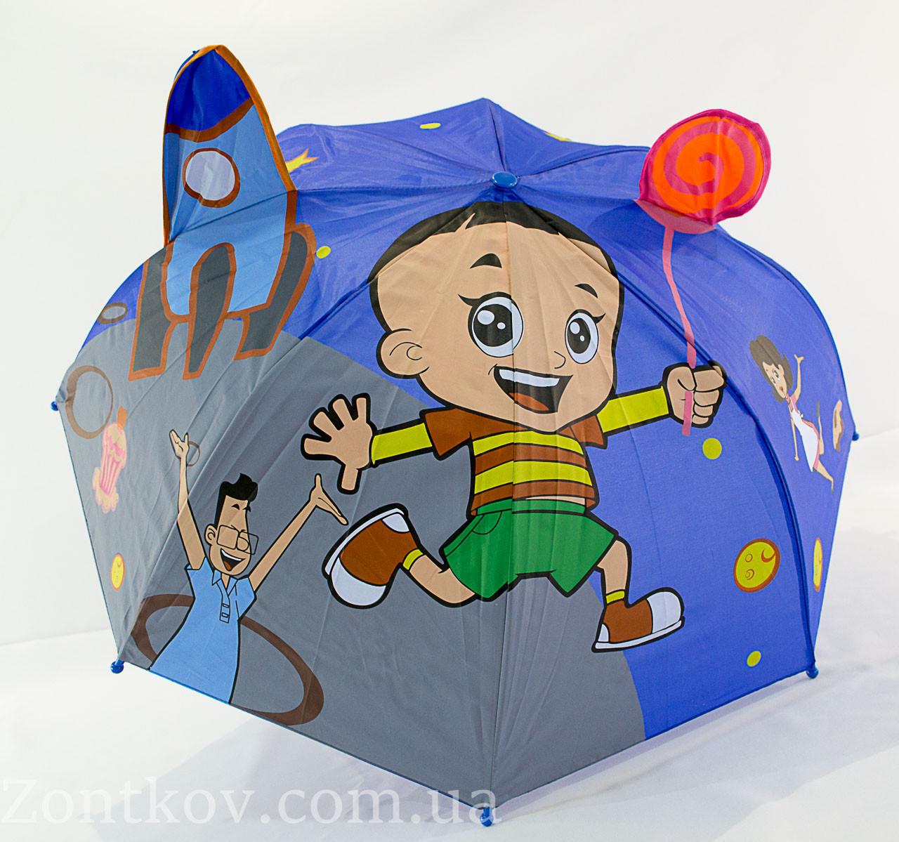 """Детский зонтик с ушками для маленьких на 2-5 лет от фирмы """"Luky Rain"""""""