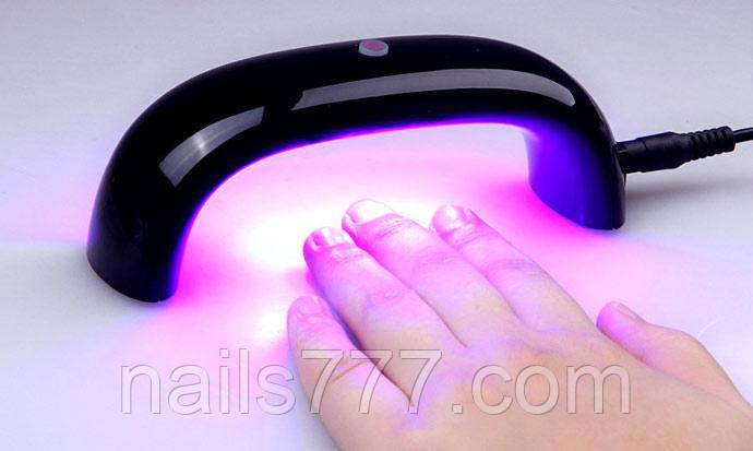 Лампа LED для сушки гель-лака 9 Вт, черная, фото 2