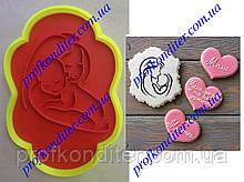 Вирубка з відбитком Рамка з силуетом Мами з дитиною №3