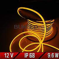 Неоновая лента Dream light 12V  IP 68 АМБЕР (Гибкий неон/холодный неон)