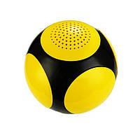 Беспроводная портативная Bluetooth колонка SUNROZ MAGIC FIDGET SPINNER BILLIARD BALL,3W Черно-Желтая (SUN0305)