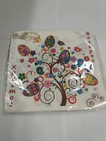 Пасхальная бумажная салфетка La Fleur  Пасхальное дерево 992