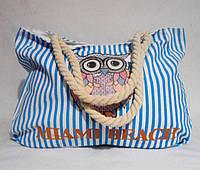 Пляжная сумка из голубого цвета полоска WMT-943259, фото 1