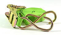 Стяжной ремень с трещёткой и 2 крючками Winso