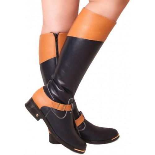 Сапоги высокие на низком каблуке, из натуральной кожи, на молнии. Пять цветов! Размеры 36-41 модель S2233