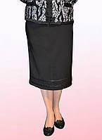 Юбка женская больших размеров черного цвета (2803/28)