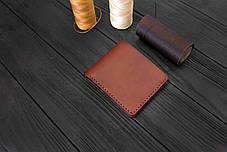 Мужской бумажник ручной работы из кожи Краст VOILE mw1-kcog-lbrn, фото 3