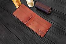 Мужской бумажник ручной работы из кожи Краст VOILE mw1-kcog-lbrn, фото 2