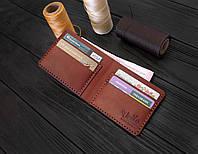 Мужской бумажник ручной работы из кожи Краст VOILE mw1-kcog-lbrn