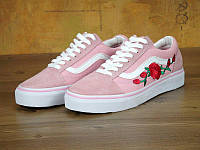 Женские кеды Vans Old Skool Roses Pink, фото 1