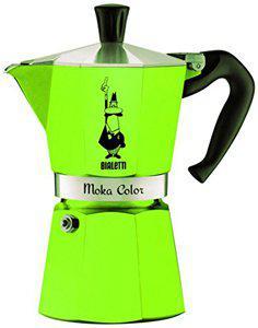 Гейзерная кофеварка Bialetti Moka Color Green, (1 чашкa - 60 мл)