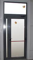 Алюминиевые входные двери Киев. Установка в г. Макаров.