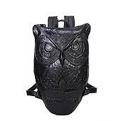 Черный рюкзак Сова