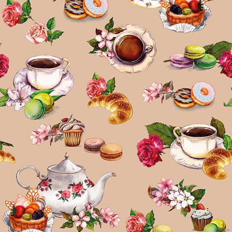 Оригинальная клеенка на кухонный стол с темой чаепития. , фото 2