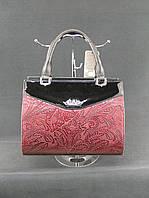 Брендовая женская сумка Эстелла макраме бордо