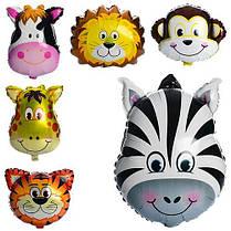 Воздушные шарики фольгированные (6в1) Зверушки (60-45см) 6 видов