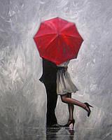 """Алмазная вышивка (набор) - """"Влюбленные под зонтом"""""""