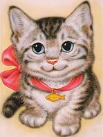 """Алмазная вышивка (набор) - """"Котенок с бантом"""", фото 1"""