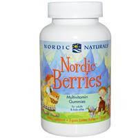 Северные ягоды, Мультивитаминные жевательные конфеты, Nordic Naturals,120 штук