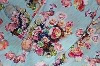 Акварель Ткань супер софт, цветы №2, фото 1