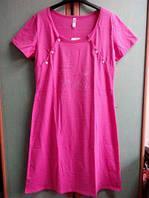 Ночная сорочка для кормления Роксана L малиновый