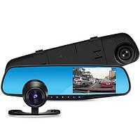 Зеркало видео регистратор с камерой заднего вида Экран 4,3  дюйма с картой памяти 8 Гб