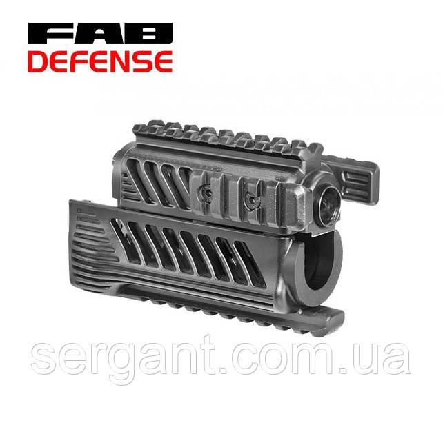 Тактическое цевье-квадрейл (пластик) KPR-В Fab Defense (Израиль) для АКСУ